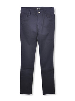Lee Uniforms Big Girls' Junior Classic 5-Pocket Skinny Pants - CookiesKids.com