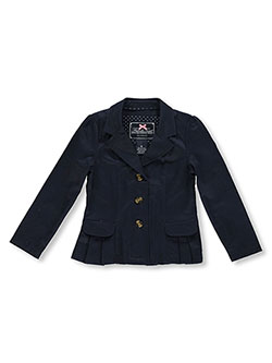 "French Toast Little Girls' ""Pleat Pockets"" Twill Blazer (Sizes 4 – 6X) - CookiesKids.com"