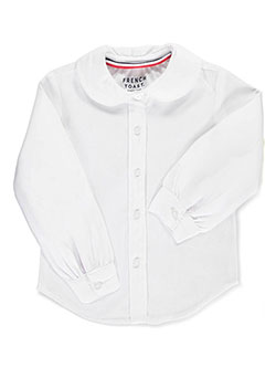French Toast Little Girls' Toddler L/S Peter Pan Blouse (Sizes 2T - 4T) - CookiesKids.com