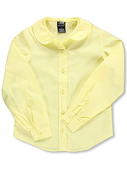French Toast Little Girls' L/S Peter Pan Blouse (Sizes 4 - 6X) - CookiesKids.com