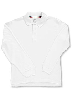 French Toast Unisex L/S Knit Polo Shirt (Sizes 8 - 20) - CookiesKids.com