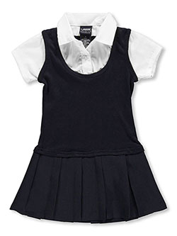 "French Toast Little Girls' ""Gabrielle"" Jumper (Sizes 4 - 6X) - CookiesKids.com"
