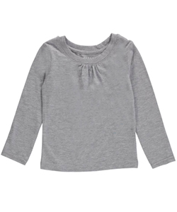 "French Toast Baby Girls' ""Ruched Crew Neck"" L/S T-Shirt - CookiesKids.com"