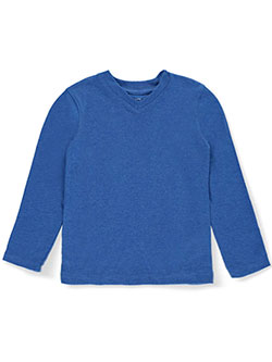 French Toast Little Boys' V-Neck L/S T-Shirt (Sizes 4 – 7) - CookiesKids.com
