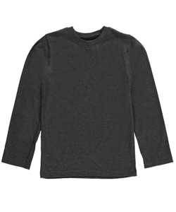 "French Toast Little Boys' Toddler ""Ribbed Crewneck"" L/S T-Shirt (Sizes 2T – 4T) - CookiesKids.com"