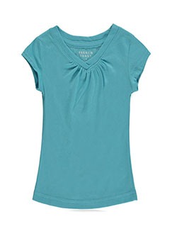 French Toast Little Girls' Toddler Ruched V-Neck T-Shirt (Sizes 2T - 4T) - CookiesKids.com