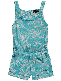 "French Toast Little Girls' ""Frond Frolic"" Romper (Sizes 4 – 6X) - CookiesKids.com"
