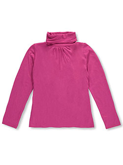 "French Toast Big Girls' ""Ruched"" Turtleneck (Sizes 7 – 16) - CookiesKids.com"