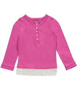"French Toast Baby Girls' ""Bit of Lace"" Top - CookiesKids.com"