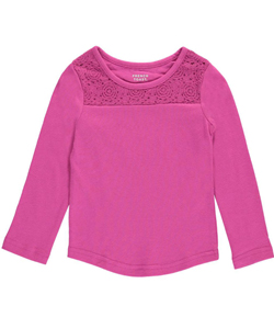 "French Toast Baby Girls' ""Rosy Yoke"" L/S Top - CookiesKids.com"