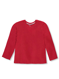 "French Toast Big Boys' ""Ribbed V-Neck"" L/S T-Shirt (Sizes 8 – 20) - CookiesKids.com"
