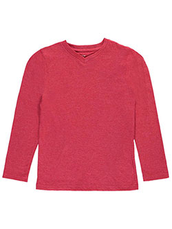 French Toast Big Boys' V-Neck L/S T-Shirt (Sizes 8 – 20) - CookiesKids.com