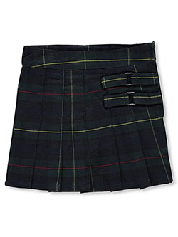 "French Toast Little Girls' ""Buckled"" Plaid Scooter Skirt (Sizes 4 – 6X) - CookiesKids.com"