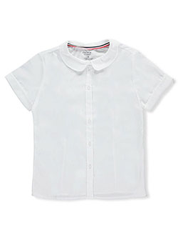 French Toast Big Girls' Plus S/S Peter Pan Button-Down (Size 44.5) - CookiesKids.com