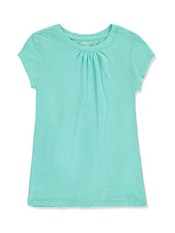 "French Toast Big Girls' ""Ruched Crewneck"" T-Shirt (Sizes 7 – 16) - CookiesKids.com"