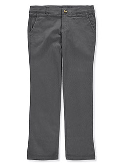 French Toast Big Girls' Twill Straight Leg Pants (Sizes 7 – 20) - CookiesKids.com