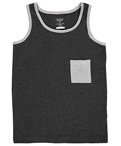 "French Toast Big Boys' ""Edgy Contrast"" Tank Top (Sizes 8 – 20) - CookiesKids.com"