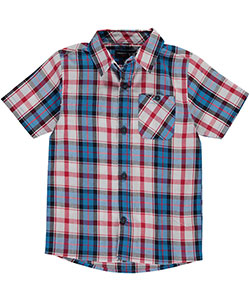 "French Toast Little Boys' Toddler ""Charleston"" S/S Button-Down (Sizes 2T – 4T) - CookiesKids.com"