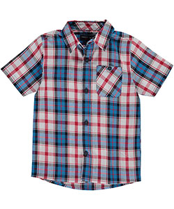 "French Toast Little Boys' ""Charleston"" S/S Button-Down (Sizes 4 – 7) - CookiesKids.com"