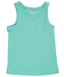 "French Toast Little Girls' Toddler ""Streak Jersey & Pocket"" Tank Top (Sizes 2T – 4T) - CookiesKids.com"