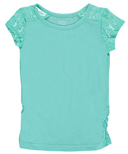 "French Toast Little Girls' ""Lace Trim"" Top (Sizes 4 – 6X) - CookiesKids.com"