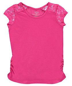 "French Toast Big Girls' ""Lace Trim"" Top (Sizes 7 – 16) - CookiesKids.com"