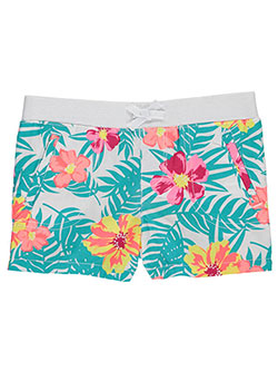 "French Toast Little Girls' Toddler ""Tropical Palms"" Short Shorts (Sizes 2T – 4T) - CookiesKids.com"