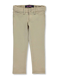 "French Toast Little Girls' ""Classic Button"" Skinny Pants (Sizes 4 – 6X) - CookiesKids.com"