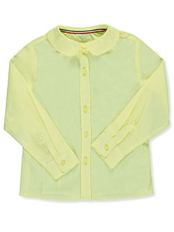 French Toast Big Girls' L/S Peter Pan Blouse (Sizes 7 – 20) - CookiesKids.com