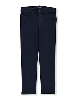 "French Toast Big Girls' Plus Size ""Classic Button"" Skinny Pants (Sizes 10C – 20C) - CookiesKids.com"