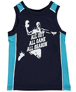 "French Toast Little Boys' Toddler ""Play to Win"" Performance Tank Top (Sizes 2T – 4T) - CookiesKids.com"