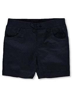 French Toast Little Girls' Toddler Wrinkle No More Pull-On Tie-Front Shorts (Sizes 2T – 4T) - CookiesKids.com