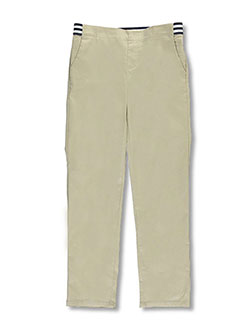 French Toast Big Girls' Pull-On Contrast Waist Pants (Sizes 7 – 20) - CookiesKids.com