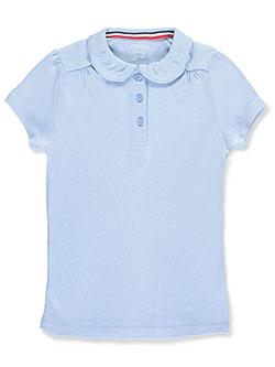 French Toast Big Girls' S/S Peter Pan Collar Polo (Sizes 7 – 16) - CookiesKids.com