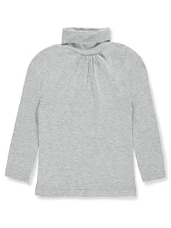 French Toast Little Girls' Ruched Turtleneck (Sizes 4 – 6X) - CookiesKids.com