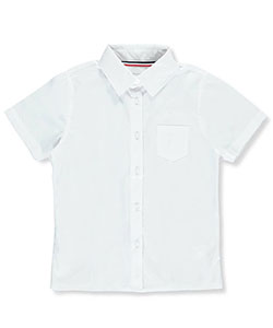 French Toast Big Girls' S/S Pocket Button-Down Blouse (Sizes 10C – 20C) - CookiesKids.com