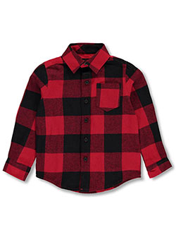 French Toast Little Boys' L/S Button-Down (Sizes 4 – 7) - CookiesKids.com