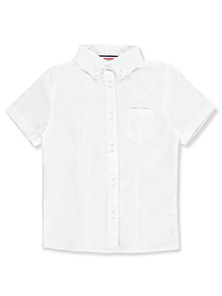 French Toast Big Girls' Button Collar Blouse (Sizes 7 – 20) - CookiesKids.com