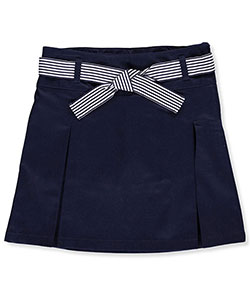 French Toast Big Girls' Belted 2-Pleat Scooter (Sizes 7 – 16) - CookiesKids.com