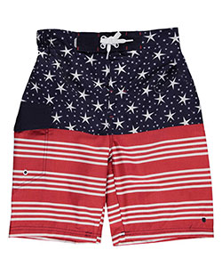 "Lucky Brand Big Boys' ""Stars & Stripes"" Boardshorts (Sizes 8 – 20) - CookiesKids.com"