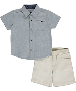"Lucky Brand Baby Boys' ""Preppy Textures"" 2-Piece Outfit - CookiesKids.com"