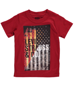"Levi's Big Boys' ""Rose Flag"" T-Shirt (Sizes 8 – 20) - CookiesKids.com"