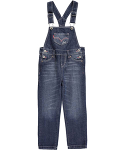 "Levi's Little Girls' ""American Stars"" Overalls (Sizes 4 – 6X) - CookiesKids.com"