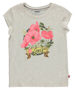 "Levi's Big Girls' ""Vintage Flowers"" T-Shirt (Sizes 7 – 16) - CookiesKids.com"
