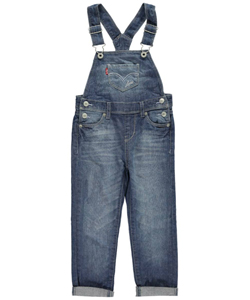 "Levi's Little Girls' ""Heart Pockets"" Overalls (Sizes 4 – 6X) - CookiesKids.com"