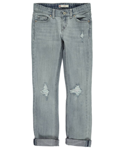 "Levi's Big Girls' ""Torn & Swooped"" Boyfriend Jeans (Sizes 7 – 16) - CookiesKids.com"