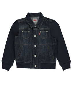 "Levi's Little Boys' Toddler ""Denim & Terry"" Jacket (Sizes 2T – 4T) - CookiesKids.com"