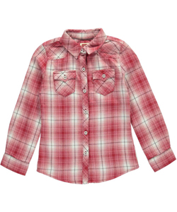 "Levi's Little Girls' Toddler ""Western Sunset"" Button-Down (Sizes 2T – 4T) - CookiesKids.com"