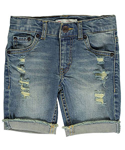 "Levi's Little Boys' 511 ""Cuffed & Frayed"" Slim Fit Shorts (Sizes 4 – 7) - CookiesKids.com"