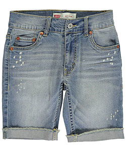 "Levi's Big Boys' 511 ""Splattered & Frayed"" Slim Fit Shorts (Sizes 8 – 20) - CookiesKids.com"